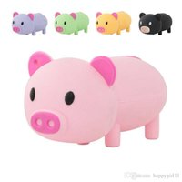 stylo flash 2gb achat en gros de-Tina en gros prix Cartoon USB Flash Drive Mignon Pig Pen Drive 2GB-64GB cadeau Usb Drives Storages U355 Bâton