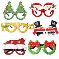 Wholesale antler decor resale online - 2020 HOT Christmas Decor Glasses for Kids Adults Cute Children Toys Glass santa claus snowman Christmas tree antlers eyewear party prop