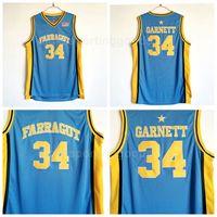 dc054fb39 NCAA College 34 Kevin Garnett Jersey High School Basketball Farragut Jerseys  Team Blue Away Breathable University Excellent Quality