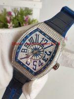 relogios de iates venda por atacado-Top qualidade de Borracha de luxo homens mecânicos Relógios Desportivos COLEÇÃO V 45 SC DT YACHTING Caso de Prata Diamante Azul Dial Mens Automático