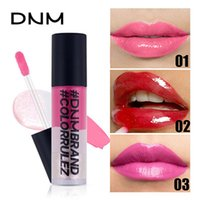 Wholesale three color lip for sale - Group buy DNM Nude Glitter Shimmer Lipgloss Long Lasting Moist Lipglaze Three layer Color Sexy Women Liquid Lipstick Waterproof Lip Makeup