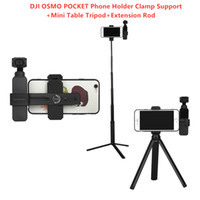 acessórios para suporte de haste venda por atacado-DJI OSMO BOLSO Handheld Gimbal Acessórios Estabilizador Suporte Do Telefone Braçadeira de Suporte + Mini Mesa Tripé + Extensão Rod