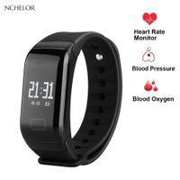 Wholesale top fitness bands resale online - Fitness watch smart watch IP67 waterproof Pedometer Heart rate new top sport men woman Multi language smart band