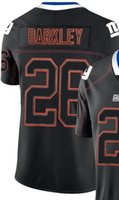 26 jersey achat en gros de-Maillots de football 2019 pour hommes New York 26 13 Lights Out Black Color Rush Limited maillots de football américain