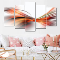 Wholesale chinese landscape canvas oil paintings for sale - 5 Combinations HD Fantasy Abstract Chinese Landscape ink Unframed Canvas Painting Wall Decoration Printed Oil Painting poster