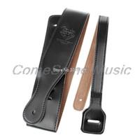 guitarra grossa venda por atacado-Popular ajustável couro macio PU Strap Grosso Por elétrica acústica guitarra baixa