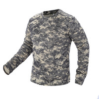 Wholesale quick drying tactical shirts for sale - Group buy 2018 New Tactical Camouflage T Shirt Male Breathable Quick Dry US Army Combat Full Sleeve Outwear T shirt for Men