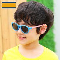Wholesale toddler boys sunglasses for sale - Group buy cute round children sunglasses polarized uv400 high quality kids girls boys toddler sun glasses infantil