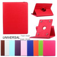 Wholesale tablets windows 10 for sale - Group buy Universal Degree Rotation PU Leather Stand Tablet Cover Case for Inch Protective Case Colors Provide