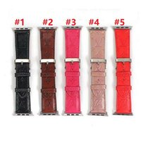 Wholesale replacement leather watch straps for sale - Group buy Newest Designer Apple Watch PU Leather Band mm mm mm Wrist Strap for iWatch Straps Replacement Christmas Gift