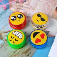 Wholesale yoyo for kids for sale - Group buy New Emoji Small Yoyo Led Ball Glowing Luminous Toy Colorful Kids Intelligence Toys For Christmas Children yf Ww