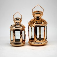 Wholesale metal home decor candle lanterns for sale - Group buy Hanging Lantern Candle Holder Hollow Holder Candlestick Hanging Lantern Home Decor Wedding Decoration Hanging Lantern KKA7518