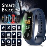bandas de seguimiento al por mayor-Fábrica de tienda inteligente venda de reloj de pulsera de la pulsera rastreador de ejercicios de la presión arterial del envío del ritmo cardíaco M3 SmartWatch gota