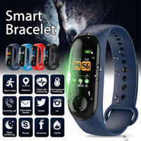 ingrosso braccialetto della nave di goccia-Factory Store Smart Watch Band Bracciale Wristband Fitness Tracker Blood Pressure M3 Smartwatch Drop Shipping