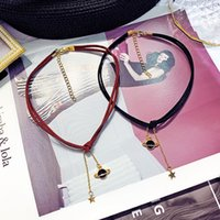 Wholesale sexy girl pendants resale online - Europe and America Temperament Sexy Choker Neck Chain Simple Fashion Universe Star Pendant Necklace for Women Girl Accessories