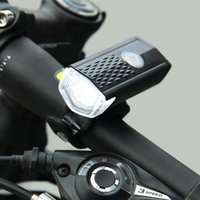 Wholesale bike headlight usb resale online - HOT USB Rechargeable Bike Front Light LED Bicycle Cycling Headlight