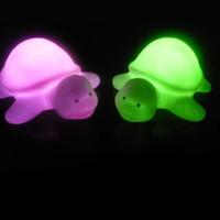 Wholesale turtle night light lamp resale online - LED night New Turtle LED Colours Night Light Lamp Party Christmas Decoration Colorful JK0071A