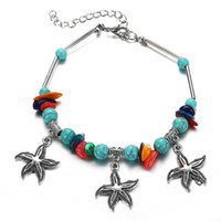 Wholesale barefoot shoes for women for sale - Group buy 2020 New Fashion Bohemia Blue Bead Shell Starfish Turtle Anklets For Women Sandals Shoes Barefoot Beach Ankle Bracelet Foot Jewelry