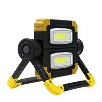 wiederaufladbare led-arbeitslichtflut großhandel-IP65 Outdoor LED Arbeitslicht Wasserdichte USB Wiederaufladbare Scheinwerfer Flood Folding Arbeitslicht Lampe