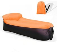 Wholesale sleeping chairs resale online - Lazy Inflatable Air Bed Lounger Sofa Beach Chair Portable Sleeping Bag Mattress