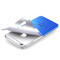 iphone için dekal cilt toptan satış-Metalik Krom Sticker Geri Vinil Wrap iphone X XS MAX XR 8 7 6 6 s artı Cilt Çıkartması Etiketler Altın Gümüş Kırmızı Mavi Siyah