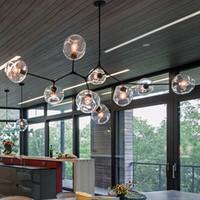 подвесные светильники спальня оптовых-Nordic Современные люстры Промышленные светодиодные лампы Потолочные люстры освещение для гостиной Спальня Кухня висячие Осв.арматура