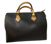 ingrosso sacchetti di tote del cuscino-hotselling delle donne classiche di alta qualità genuina pelle vera borsa di lusso ossidante spalla cuscino borsa tote bag SPEEDY
