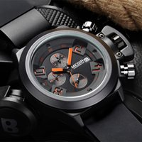 ingrosso grandi orologi a led-Sport Men Watch 3D grande manopola impermeabile del cronografo degli uomini di lusso Big Data Guarda Relogio automatica dell'orologio Reloj Hombre