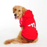 hundekleidung fleecejacke groihandel-Großer Hund Kleidung Hund Hoodies Haustier Kleidung für Hunde Mantel Jacken Baumwolle großen Hund Fleece-Pullover goldene Wolle Husky Labrador