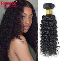 Wholesale unprocessed raw human hair resale online - 3 or Bundles Kinky Curly Human Hair Natural Black Raw Indian Afro Kinky Curly Human Hair Extensions Unprocessed Hair Bundle Deals