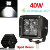 Wholesale atv fog lights for sale - Group buy 40W V V LM LED Work Light Fog Lamp for Motorcycle Tractor Boat WD Offroad SUV ATV