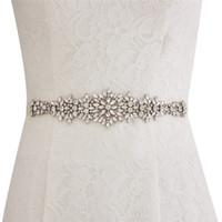 acessórios para vestidos de casamento venda por atacado-New Custom Made Cintos De Casamento Cetim Cinto Com Strass Beads Acessórios Do Casamento Faixa De Fita De Noiva Para O Casamento Do Baile de Formatura Vestidos CPA1688