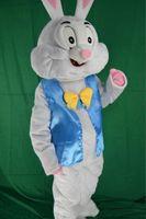 traje de coelho de páscoa venda por atacado-2019 venda direta da Fábrica de Coelhinho da páscoa traje da mascote do vestido extravagante animais engraçados bugs coelho mascote tamanho adulto traje da mascote do coelho