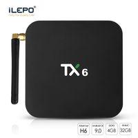 allwinner skype-tv-box großhandel-TX6 Smart TV Box Android 9.0 Allwinner H6 Quad Core 4 GB 32 GB Unterstützung Wifi BT5.0 Set-Top-Box