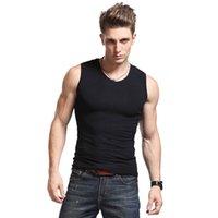 ingrosso alti ragazzo-Alta flessibilità Uomo Body Compression Base Layer Sleeveless Summer Vest Thermal Boy Fitness Collant Under Top Tees Canotte