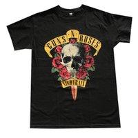 gül gecesi toptan satış-Guns N Roses Gece Yağmur Erkek Tişört Siyah