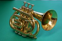 Hot Selling Mini Jupiter JPT-416 Bb Pocket Trumpet Gold Brass Musical Instrument With Case Accessories Free Shipping