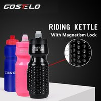 Wholesale magnetic bicycle online – Costelo Magnetic Lock Bicycle Bottle Cycling Camping Bike Water Kettle Cage Holder ml Portable Outdoor Sports Fitness Cup