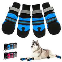 1pair Waterproof Winter Pet Dog Shoes Anti-slip Snow Pet Boots Paw Protector Warm Reflective For Medium Large Dogs Labrador Husky