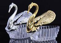 ingrosso decorazioni di cigno di natale-Nuovo matrimonio all'ingrosso forniture per feste di natale regalo di san valentino elegante elegante cigno caramelle scatola di caramelle decorazione