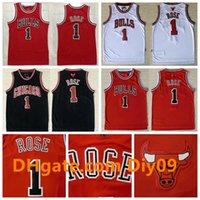 13 maillot de basket rouge achat en gros de-Majestic Rose Reteo Hommes Chicago