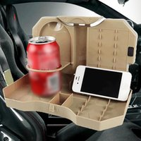 Wholesale car folding tray resale online - Car Cup Holder Stand Desk Auto Back Seat Table Car Folding Table Automobile Drink Cup Tray Accessories