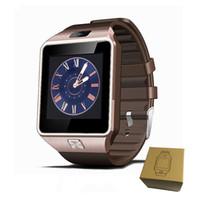 iwatch relógio inteligente venda por atacado-Dz09 smart watch smartwatch bluetooth com câmera cartão sim para apple android telefones iwatch sim smart watch dz09 com pacote de varejo