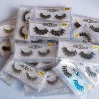 falsche wimpern großhandel-Auf Lager 3D Nerz Wimpern Augen Make-up Nerz Falsche Wimpern Dicke Falsche Wimpern 3D Wimpern Verlängerung Beauty Tools 17 Arten Nerz Wimpern