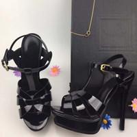 feinste pelze groihandel-Neue hochhackige Schuhe Frauen fein mit Wasser Nerz Haar Laufsteg Schuhe Damen Pelz Sandalen Mode Fee rot F letter34-41