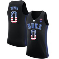 bandera naranja al por mayor-Mens Jayson Tatum Jersey Custom Duke Blue Devils College camisetas de baloncesto de moda EE.UU. bandera de alta calidad cosido tamaño S-2XL