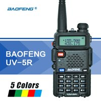dualband vhf uhf handheld groihandel-Baofeng UV5R Walkie Talkie Dual Band UV5R Tragbare CB Radio Station Hand UV 5R UHF VHF Zwei-Wege-Radio für Jagd Ham Radio
