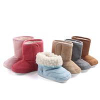 primer zapato bajo al por mayor-Invierno Nuevo Bebé Zapatos para la nieve Tubo bajo Engrosamiento Primeros pasos Caminantes Calzado Antideslizante 1-3 años Cuidado Bebé Pies pequeños 2018