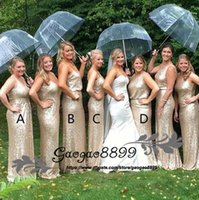 Wholesale plus side bridal party dresses for sale - Bling Rose Gold four styles Sequined Maid of Honor Dresses Plus Size Long Beach Bridesmaid Bridal Party Evening Gowns Custom cheap