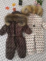 meninas quentes para baixo jaqueta venda por atacado-Inverno das crianças para baixo jaqueta meninos e meninas de pato para baixo jaqueta + calça terno grosso casaco marca quente engrossado jaqueta